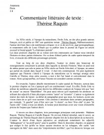 commentaire de texte therese raquin