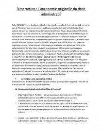 Dissertation Droit Administratif