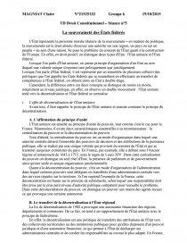 etat unitaire et état fédéral dissertation