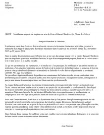Lettre De Motivation Pour Stage En Cer Lettre Type Ludovic Jovet