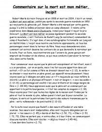 Dissertation Sur La Mort Est Mon Metier