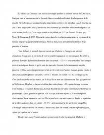 dissertation en attendant godot theatre de labsurde
