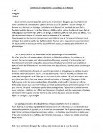 dissertation sur la fable le corbeau et le renard