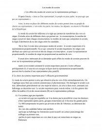 dissertation mode de scrutin majoritaire et proportionnel