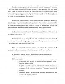 Stage Court De La Formation De Moniteur Educateur Lettre Type