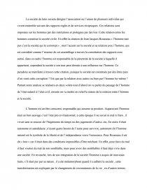 Dissertation Sur La Citation Du Rousseau Imane Faouzi L Homme Est Naturellement Bon