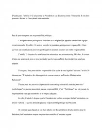 dissertation irresponsabilité présidentielle