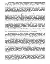 métropolisation en france dissertation