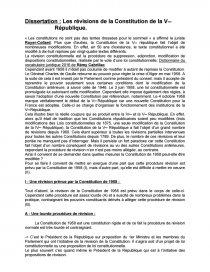 dissertation les révisions constitutionnelles