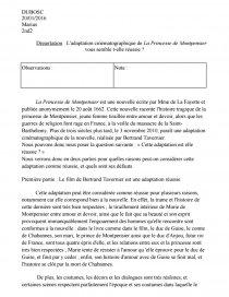 dissertation sur la princesse de montpensier