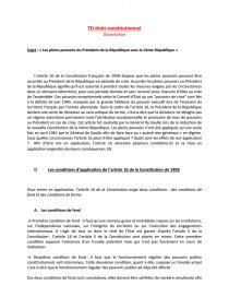 dissertation le president sous la 5eme republique