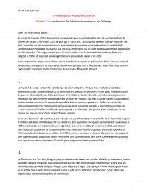 exemple dissertation economie droit