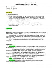 Analyse Les Joueurs De Skat O Dix Dissertation Yo Pe