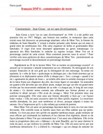 dissertation un roi sans divertissement giono