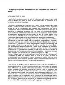 dissertation préambule de la constitution de 1958