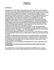 dissertation europe et fédéralisme