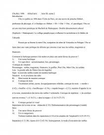 sujet dissertation ubu roi