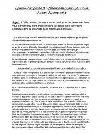 socialisation primaire et secondaire continuité ou rupture dissertation