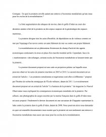 dissertation sur la piraterie maritime