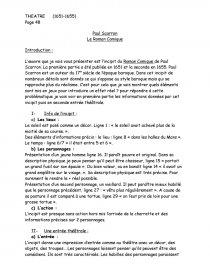 paul scarron le roman comique dissertation