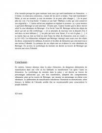 exemple dissertation explicative - rhinocéros
