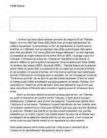 dissertation commentaire thérèse raquin