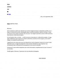 Lettre De Motivation Stage Bts Ci Lettre Type Steef952