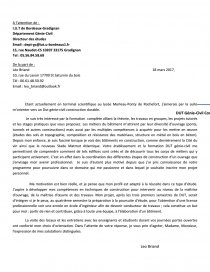 Lettre De Motivation Dut Genie Civil Bordeaux Lettre