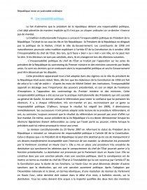 dissertation le président de la république est-il un justiciable ordinaire