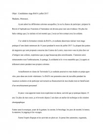 Lettre De Motivation Stage Bafa Lettre Type Batliam