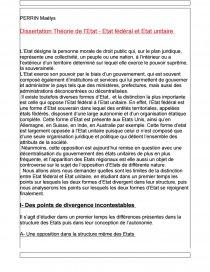 dissertation etat fédéral et état unitaire