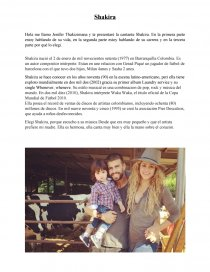 Shakira Biographie En Espagnol