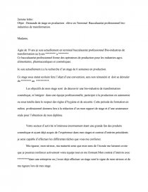 Lettre De Motivation Stage Pharmaceutique Lettre Type Mery67200