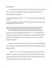 Conclusion Rapport De Stage Rapport De Stage Corentin Bar