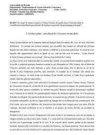dissertation place annie ernaux