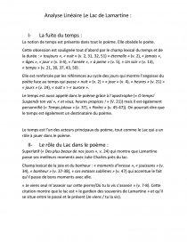 Analyse Linéaire Larmartine Commentaire De Texte Rtezasd