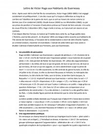 Lettre De Victor Hugo Aux Habitant De Guernesay Analyse