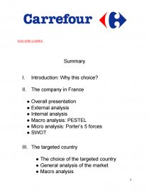 carrefour swot analysis