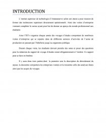 Rapport De Voyage D étude Rapport De Stage Maherinnyavo