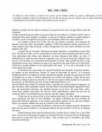 dissertation sur lincipit de bel ami