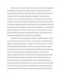 la violence dissertation