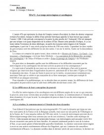 sujets dissertation carolingiens