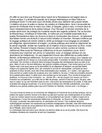 sujet dissertation ronsard les amours