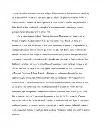exemple de dissertation sur boule de suif