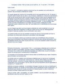 dissertation lefficacité de la promesse unilatérale de vente