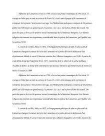 Biographie De Lamartine Et Analyse Du Poème Le Lac Cours