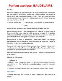 Parfum Exotique Baudelaire Commentaire De Texte Louiserft