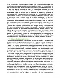 dissertation juridique sur la tentative punissable