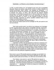Le Pib Est Il Un Bon Indicateur Economique Dissertation Loic 2v