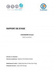 Rapport De Stage Leclerc Commentaire D Oeuvre Arnaudemv